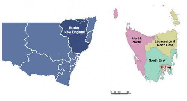 HNE And Hobart Map